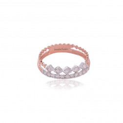 Prajana Fancy Rose Gold Design Diamond Ring