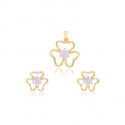 Soma Floral Shaped Pendant Set For Women
