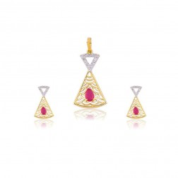Suman Beautiful Stuning Diamond Pendant Set