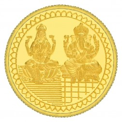 Laxmi  Ganpati 10 Grams Gold Coin
