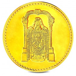 Tirupati Balaji 10 Grams Gold Coin